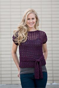 This lace crochet top would be easy to make.