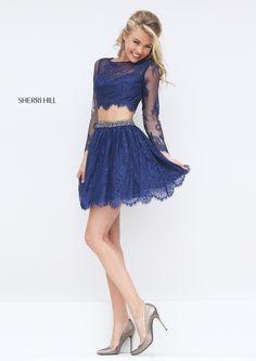 Sherri Hill 50073 short, two-piece prom dress. https://www.pinterest.com/behzadj/jovani-prom-dresses/, https://www.pinterest.com/behzadj/blush-prom-dresses/ or https://www.pinterest.com/behzadj/alyce-paris-prom/ for other two-piece prom dresses. Sherri Hill is selling out fast.