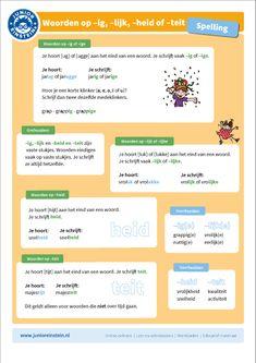 Deze uitlegkaart kan je helpen bij het oefenen met woorden met -heid. Als je aan het einde van een woord -heid hoort schrijf je dat bijna altijd hetzelfde. Op de kaart staat een korte uitleg die je kan helpen tijdens het oefenen. Met behulp van de voorbeeldwoorden kun je de klank nog beter onthouden. Door de afbeeldingen is de kaart niet alleen leerzaam maar ook nog eens leuk.