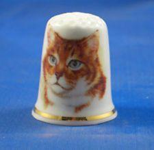 FINE CHINA THIMBLE - MARMALADE CAT
