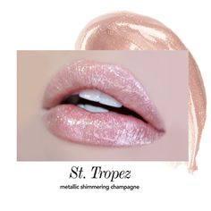 Long-Wear Lip Topper ™ – Jouer Cosmetics | $16 | Shade: St. Tropez. Description: Metallic Shimmering Champagne. Long-Wear Lip Topper™ with Coconut Oil. This weightless lip topper instantly refreshes and adds shimmer to your favorite lip color. Wear alone or pair with Jouer Long-Wear Lip Creme.