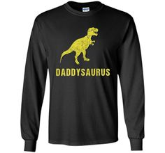 Daddysaurus Shirt Funny Fathers Day Gift from Kids Toddler