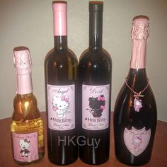 Hello Kitty Wine, Red Wine, Alcoholic Drinks, Guy, Bottle, Glass, Instagram, Drinkware, Alcoholic Beverages