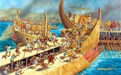 Naval Battle during the Peloponesian War