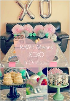 RAWR Means XOXO In Dinosaur Valentine's Day Party