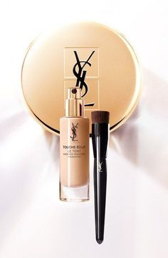 The best foundation!! How to use: The YSL Touche Éclat foundation should be applied with the new Touche Éclat Le Teint Brush (sold separately), a Y-shaped brush that delivers the perfect amount of foundation. Simply pump two drops into the brush well then buff over skin. It distributes product evenly for a seamless, flawless finish every time.