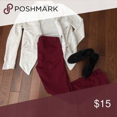Scarlet Boulevard Wine Pants These wine colored pants are perfectly on trend this fall! They are EUC, only worn once! Scarlet Boulevard Pants Skinny