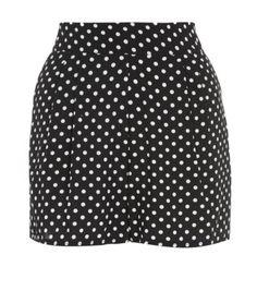 New Look - Black Polka Dot Shorts