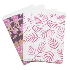 Leah Goren is a surface designer and illustrator based in NYC.  We carry her gift wrap in these florals and a cute cat print.