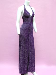 EARLY 70S RADLEY OF LONDON LUREX GOWN 5