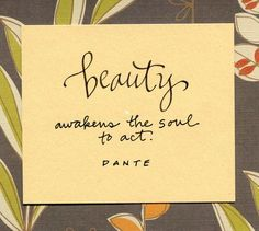 Beauty isn't what's on the outside, it's what is on the inside that matters.