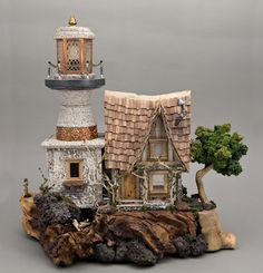 Quarter scale lighthouse, beautifully made