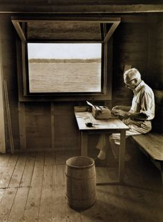 E.B. White's boat shed overlooking Allen Cove, 1976.