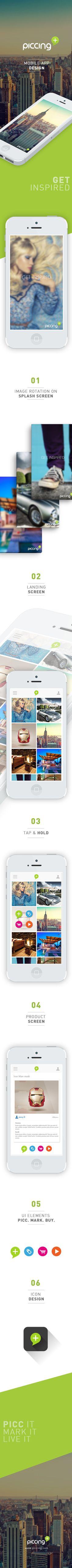 Piccing Mobile App by Geran de Klerk, via Behance