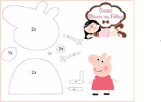 felt pattern peppa pig | Feltro | Pinterest