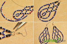 Finish the drop bead earrings