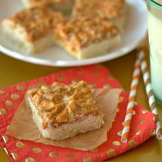 Caramel Cashew Shortbread Bars: Are you ready to be the most popular person at your next get-together? Make these and you will be! #FallBaking #Cashews #Caramel #Shortbread