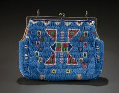 A SIOUX BEADED HIDE PURSE. c. 1890... American Indian ArtBeadwork | Lot #54130 | Heritage Auctions