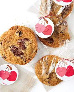 These crave-worthy cookies have a kiss of cherry and make a sweet valentine when sealed with a personalized cherry-hearts tag. Try swapping the cherries for dried cranberries, which are just as tart and a cinch to find.