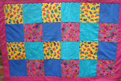 Baby/Toddler Quilt Butterflies Bubbles & Flowers by 5thAveFibers, $60.00