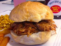 Who doesn't love pulled pork? I remember the first time I ever tried it (maybe 3 years ago) - a boyfriend at the time ordered it from a local restaurant. They served the dish with about 4 sides, including corn bread. He asked me to try a bite since it would be my first time.. I was extremely happy that I did! So much flavor, smokiness, and the meat so soft that it melted in your mouth.I think we can all assume that the next time we went, I ordered the pulled pork.This recipe ...