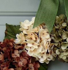 Fall Wreath Fall Hydrangea Wreath Fall Hydrangea by countryprim