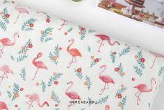 Scandinavian Fabric, Scandinavian Pattern, Flamingo Fabric, Flamingo Pattern, Textile Prints, Bed Pillows, Patterns, House Styles, Design