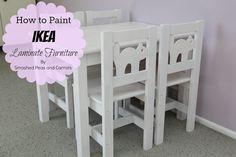 How to Paint Ikea Laminate Furniture-TUTORIAL