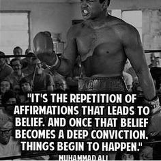 "Believe.  ""Keep pushing forward...... #conviction #boom"""
