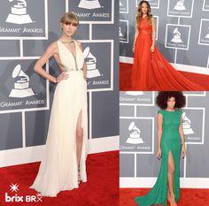 As maiores estrelas da música mundial brilharam no tapete vermelho no último Grammy Awards, e a BRIX selecionou algumas das produções mais elegantes do evento.  #estilobrix #grammyawards2013