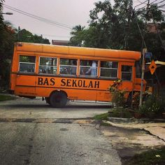 A Malaysian school bus - looks a little like the American school buses. #upsticksandgo #schoolbus #KL #kualalumpur #malaysia #travelgram #travelphotos #travellingtheworld #school #asia | Flickr - Photo Sharing!