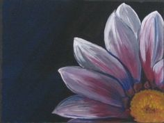 Painting Acrylic Flower Simple Flowers And Paintings Abstract