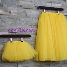 Set Fuste Tulle Mama - Fiica - Handmade With Love by Sew Violet Sewing, Skirts, Handmade, Fashion, Moda, Dressmaking, Hand Made, Couture, Skirt