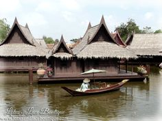 Stilt houses and water transport were the traditional way of life in Thailand.
