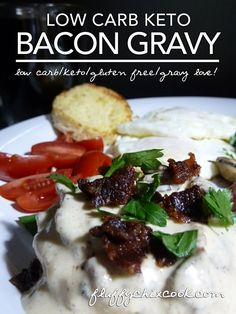 Easy Bacon Gravy from Fluffy Chix Cook. Delicious low carb keto lick your chops gravy in under 5 minutes (if the bacon is ready). YUMBO!
