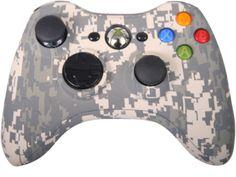 Xbox 360- Snow Camo Controller