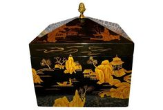 Chinoiserie Large Lacquer Box