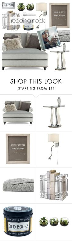 """Reading nook"" by anyasdesigns ❤ liked on Polyvore featuring interior, interiors, interior design, home, home decor, interior decorating, Massoud, Monarch Specialties, Arnsberg and Lands' End"