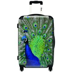 iKase Peacock 20-inch Hardside Carry On Spinner Upright Suitcase 118
