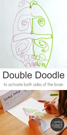 Double doodle art is fun, relaxing, and a great way to exercise the brain as it uses both sides of the brain simultaneously.