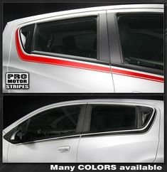 Chevrolet Spark Side Accent Stripes 2015 2014 2013 Chevrolet Spark Vinyl Stripes Decals High quality factory style and unique Auto Graphics Spark 2013, Spark Gt, Cool Car Stickers, Racing Stickers, Chevrolet Spark, Aveo Gt, Vw Golf Variant, Vw Cc, Ford Fusion