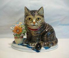 "Anna Perenna 1984 ""Oliver's Birthday"" Porcelain Cat Figurine"