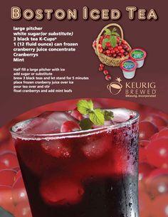 Just Kups™ | Boston Iced Tea Recipe @Bevvvvverly White...can I borrow your Keurig, Mom?? lol