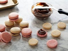 Chocolate Filled Almond Macarons: These cookies are the perfect combination of crispy and chewy. Don't worry if the tops crack; they will still be delicious.