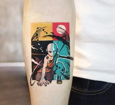 Guys, Is Avatar aang a famous animation? I just watched some of them. Carlos thanks for coming to Korea to g Avatar Aang, Avatar The Last Airbender Art, Mini Tattoos, Body Art Tattoos, Small Tattoos, Cool Tattoos, Tatoos, Avatar Tattoo, Tattoo Geek