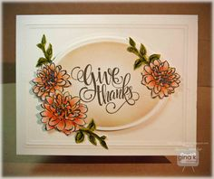 Hello! It's the second day of our blog hop for the new Gina K StampTV Painted Autumn StampTV Kit. Here is the card I made for the set bein...