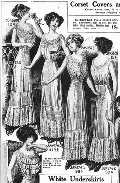 Corset Covers and Underskirts  Sears Catalog 1912