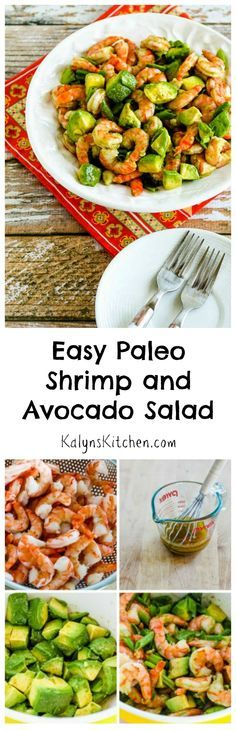 Whether or not you care about the Paleo diet, if you like shrimp and avocados I promise you'll love this Easy Paleo Shrimp and Avocado Salad.  It's perfect for a summer party, or easy enough to make for a quick lunch.  #LowCarb #Paleo #GlutenFree [from KalynsKitchen.com]