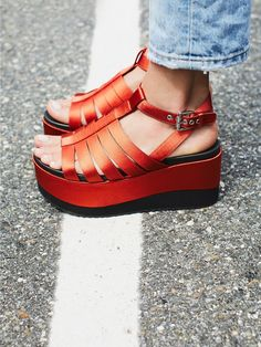 Shellys London Lola Platform Wedge at Free People Clothing Boutique