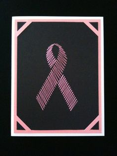 Breast Cancer Pink Ribbon Card  Blank by kriscrafts on Etsy, $5.00